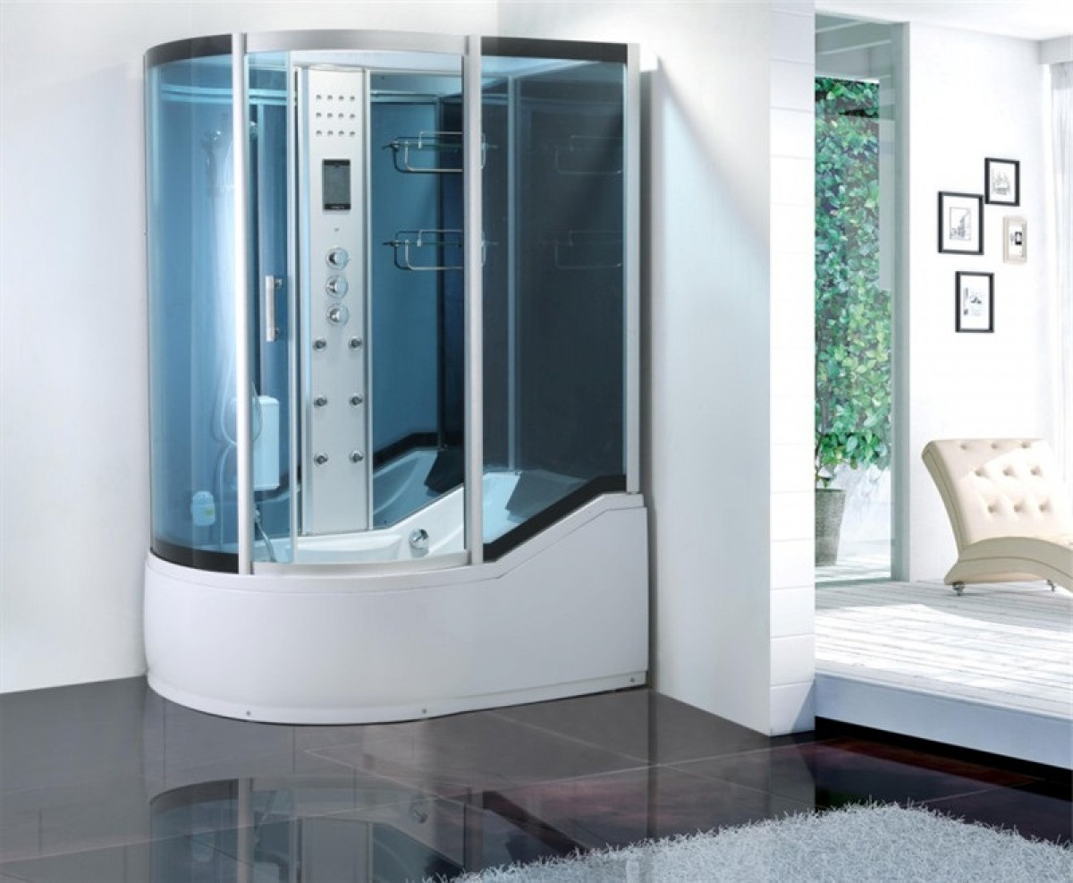 cabine de douche baignoire d hydromassage sanifun pasquale. Black Bedroom Furniture Sets. Home Design Ideas