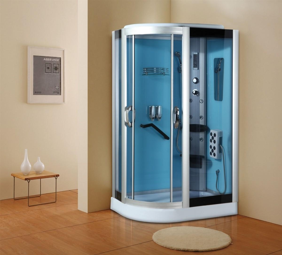 Cabine de douche en verre sans calcaire